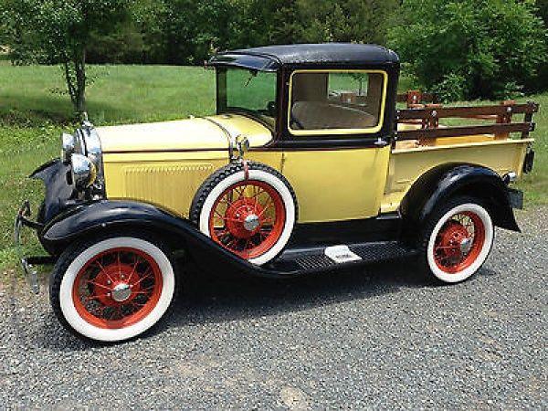Ford : Model A Pick up body 1930 Model A Ford Pickup truck. Vintage Ford, Real steel. Side mount spare. - http://www.legendaryfind.com/carsforsale/ford-model-a-pick-up-body-1930-model-a-ford-pickup-truck-vintage-ford-real-steel-side-mount-spare/