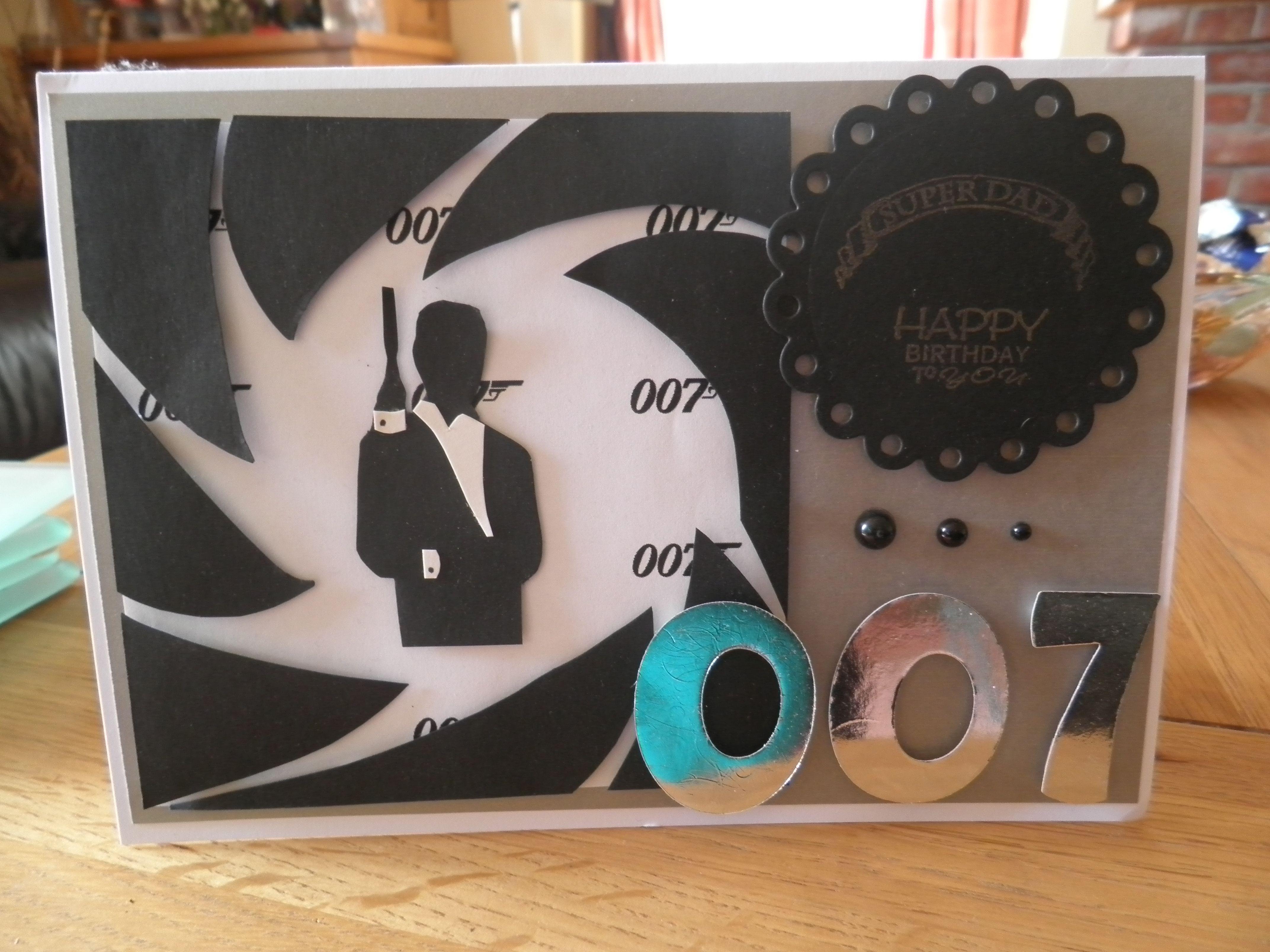 James Bond 007 Theme Birthday Card – James Bond Birthday Cards