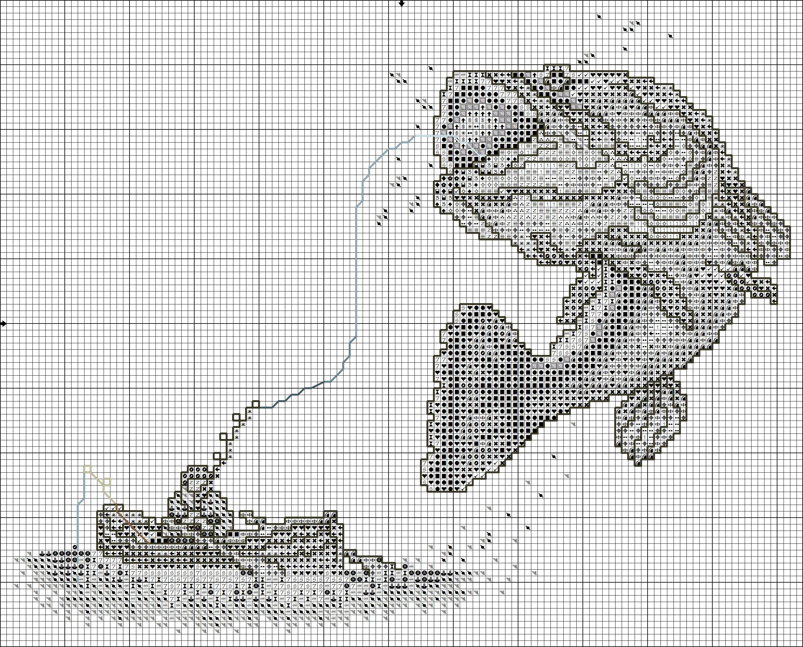 Kreuzstich | Filet Crochet | Pinterest | Puntos, Pesca y Punto de cruz