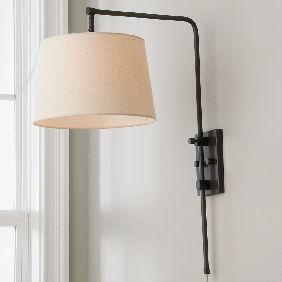Down Bridge Shade Wall Light In 2021 Plug In Wall Sconce Swing Arm Wall Lamps Wall Lamp Shades Wall sconce lamp shade