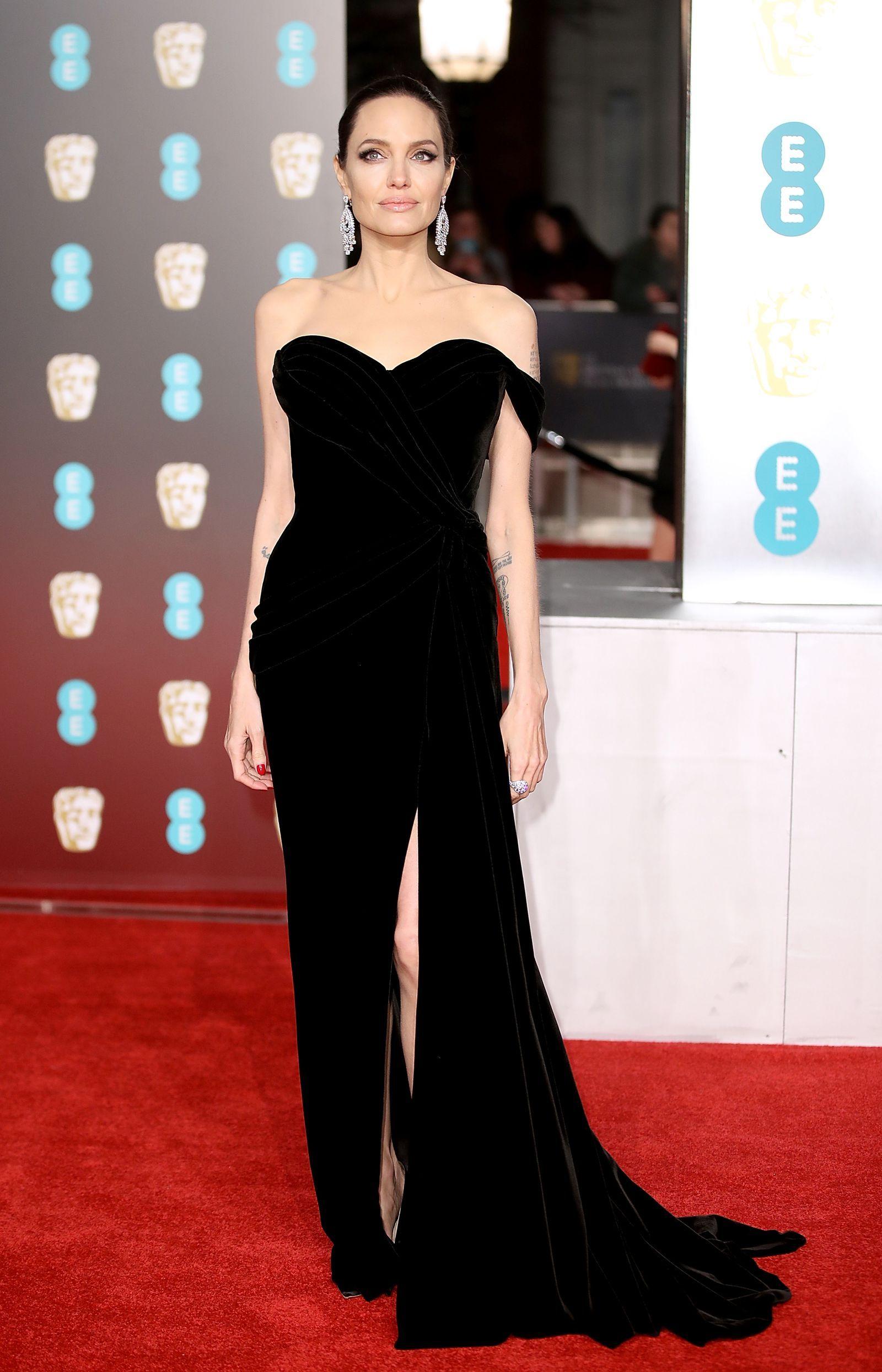Angelina Jolie Film Nuda the best of the bafta awards 2018 red carpet fashion | black