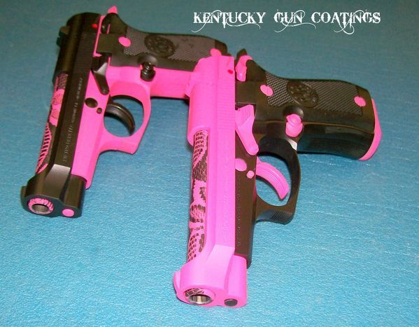 A Pair of Beretta 84's with Pink Lace Barrels