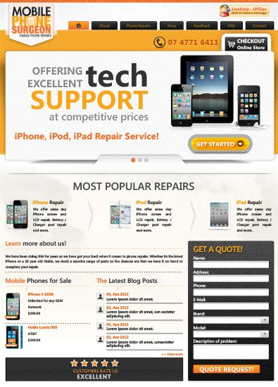 Free Mobile Phone Repair Service Template Free Wordpresstemplate