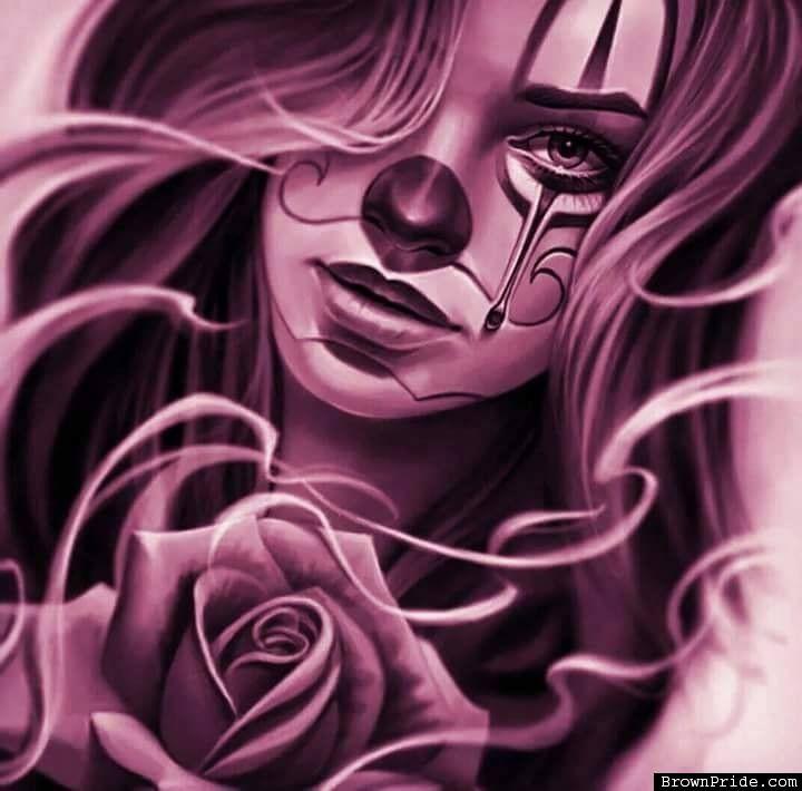 Amazing Payasa Clown Art Work - Chicana Style - BrownPride.com Photo Gallery (BP)
