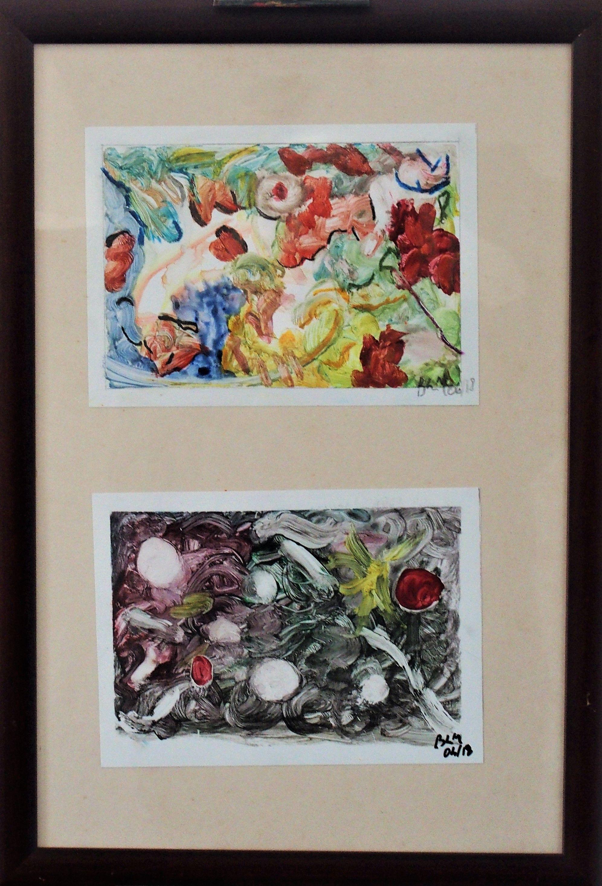 Technique Mixte Sur Papier Photo Encre Aquarelle Crayons De