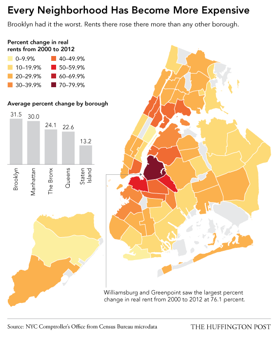 NYC Is Even More Unaffordable Than You Think, In 6 Charts ... Inclusionary Housing Lower Manhattan Map on