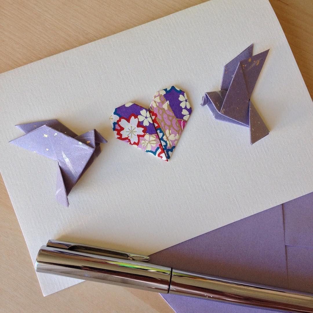 Открытка на свадьбу оригами