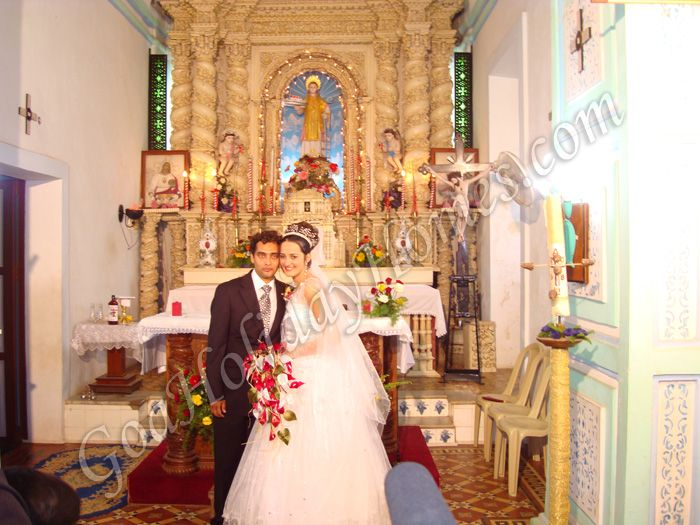 Wedding in goa church