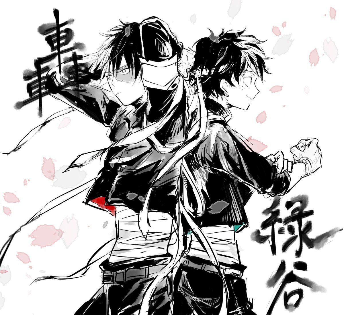 Boku no Hero Academia    Todoroki Shouto, Midoriya Izuku.