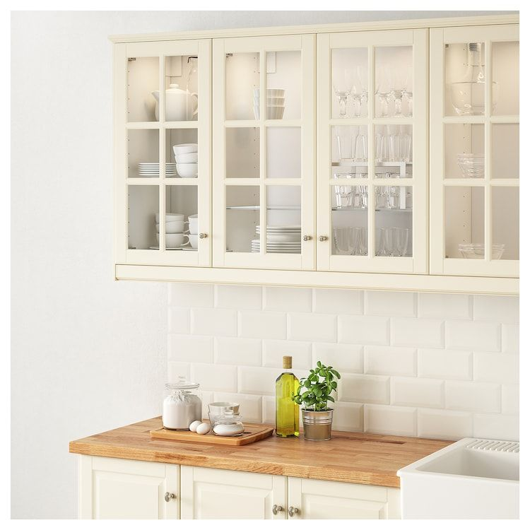 Best Ikea Bodbyn Off White Glass Door In 2020 Kitchen Design 640 x 480