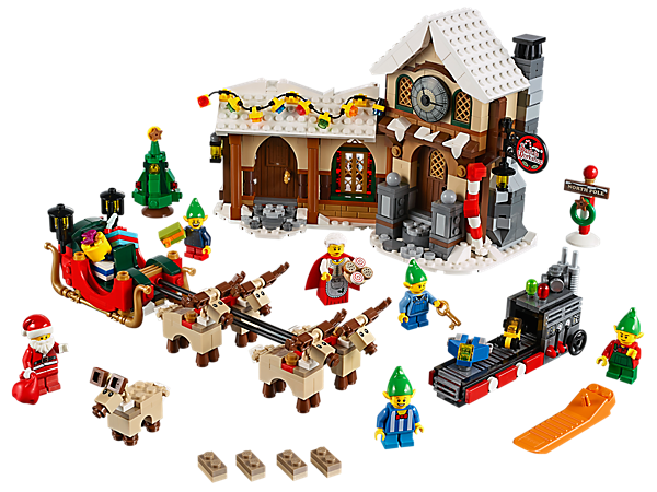 Have festive family fun building Santa's Workshop!