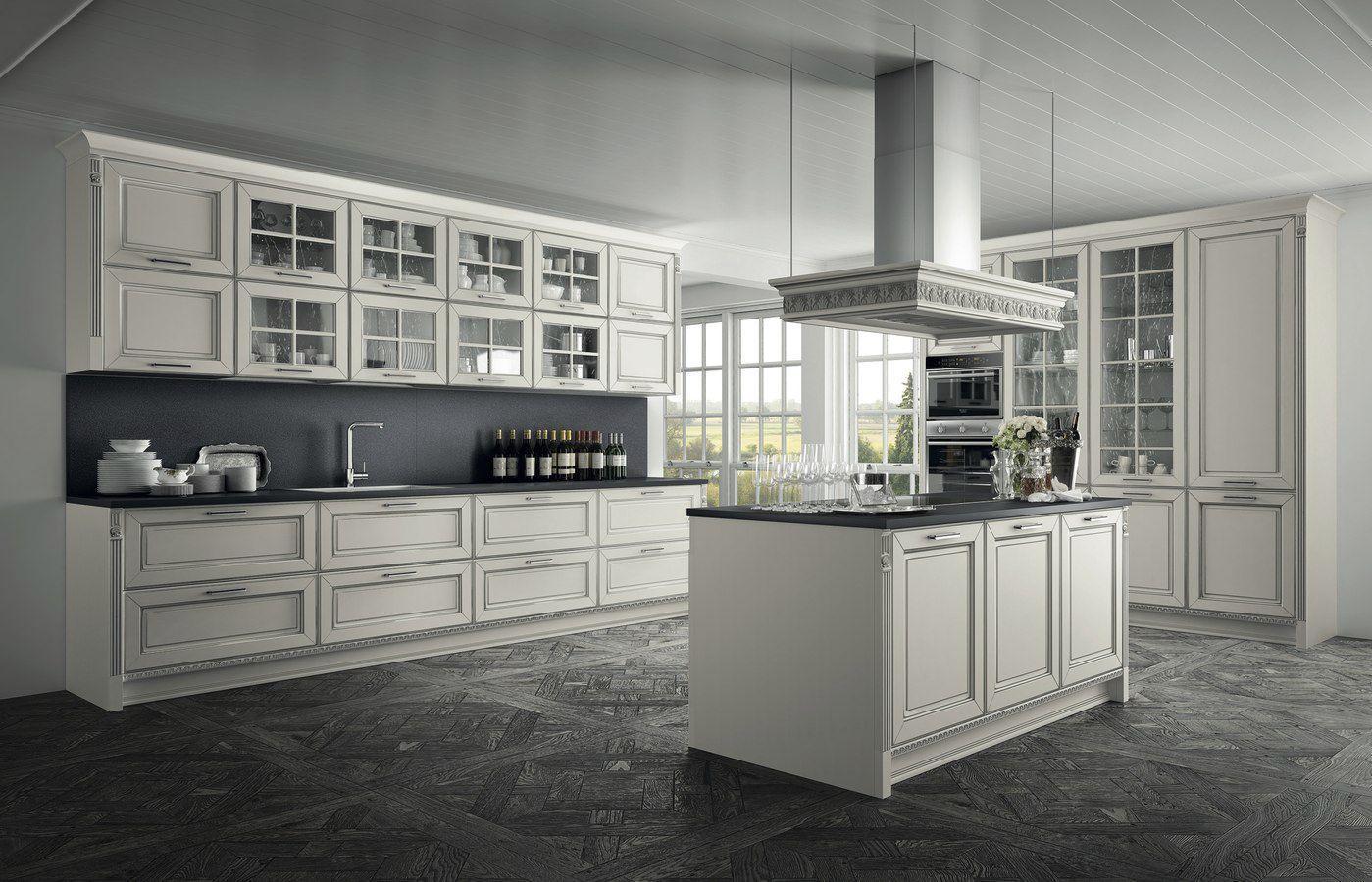 Traditional kitchen / walnut / glass / island - DOLCEVITA ...