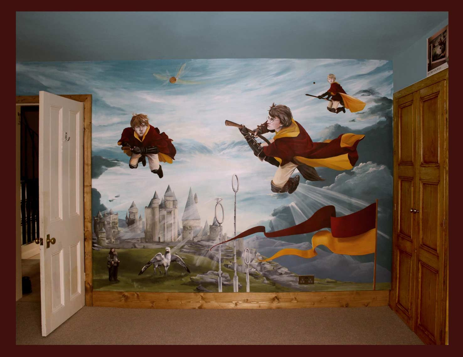 Mural Portfolio Harry Potter Wall Harry Potter Bedroom Harry Potter Wall Painting
