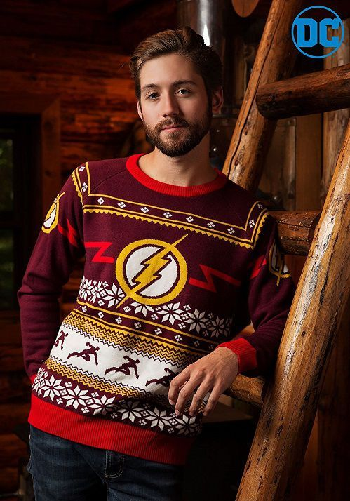 Flash Logo Holiday Sweater Geek Stuff Christmas Christmas