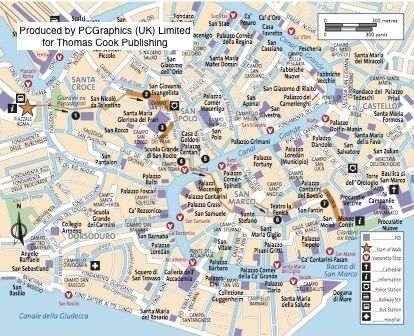 Walk Map Of Piazzale To Piazza San Marco Venice Produced By - Venice san marco map