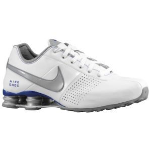 uk availability f8720 7c10a ... store nike shox deliver mens running shoes white stealth black a1a5a  43486