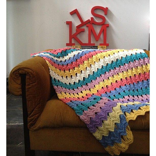 Photo Tutorial] Free Crochet Afghan Patterns-Vintage Fan Ripple ...