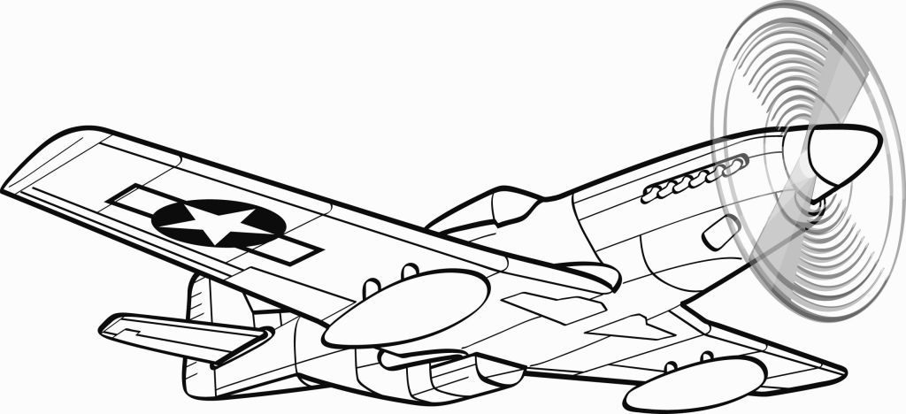 P 51 Mustang Coloring Pages