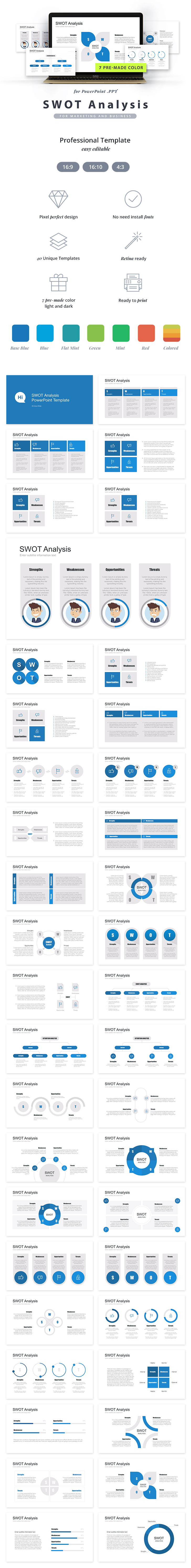 Swot Analysis Powerpoint Template   Unique Slides Ppt  Pre