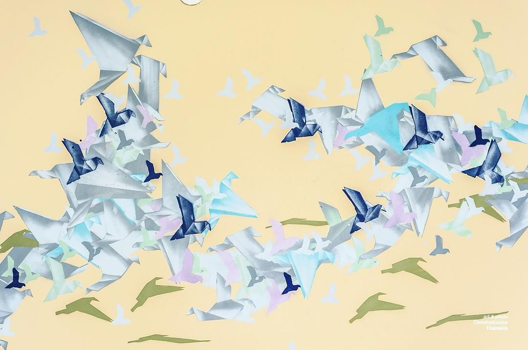 Origami wall art | Art–Thanasis Christodoulou | Pinterest | Origami ...