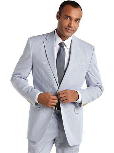 Suits Suit Separates Lauren By Ralph Lauren Blue Seersucker