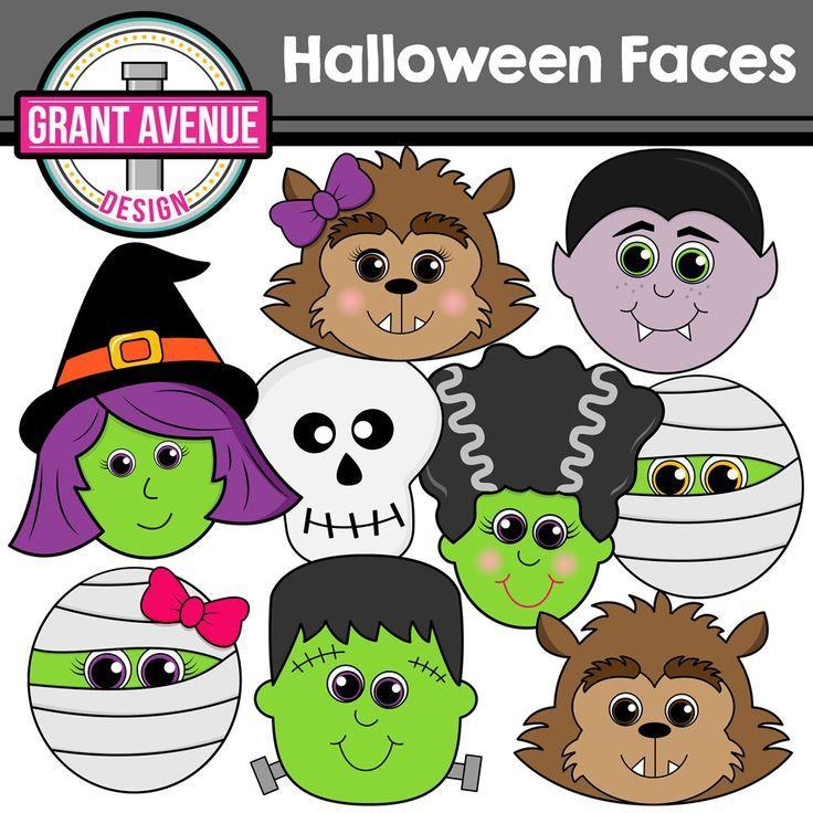 Halloween Clipart - Cute Halloween Faces | Halloween ...