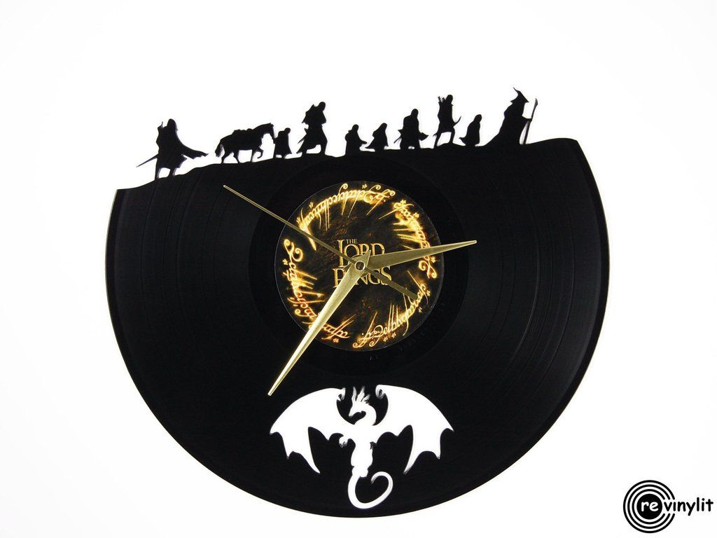 Lord of the Rings vinyl record clock  www.revinylit.com