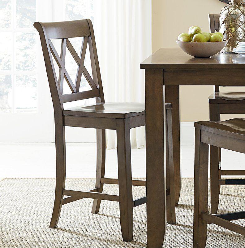 "25.63"" Bar Stool Wooden bar stools, Modern bar stools"