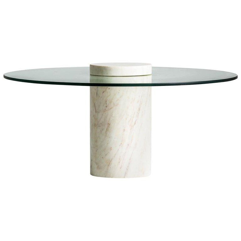 Italian Style And 1970s Design Marble And Glass Round Coffee Table In 2020 Round Glass Coffee Table Square Glass Coffee Table Travertine Coffee Table
