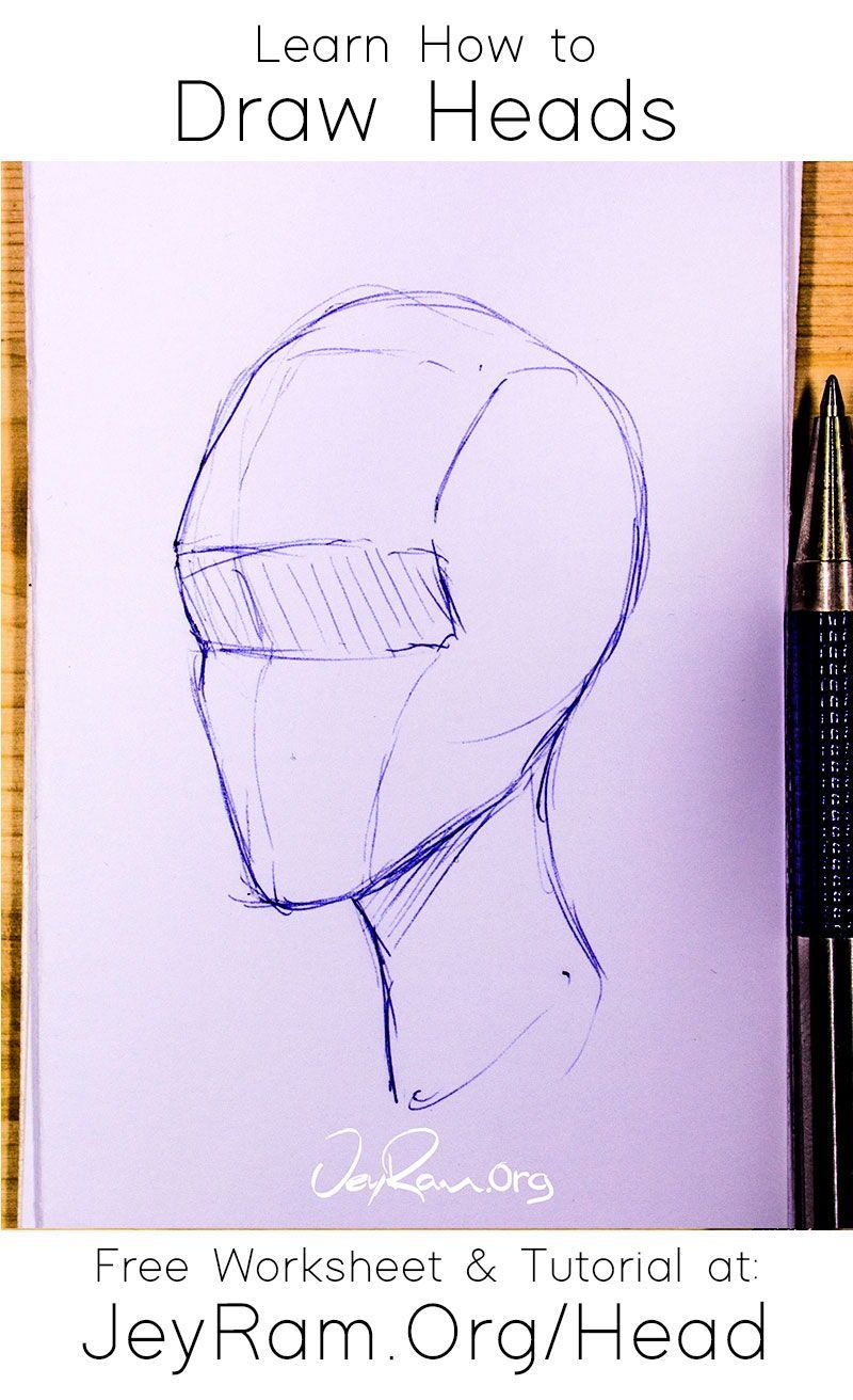 How To Draw The Head From Any Angle Free Worksheet Video Tutorial In 2020 Hipster Drawings Drawings Drawing The Human Head