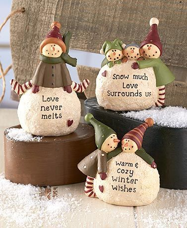 image result for cold cast ceramic country christmas ornaments - A Country Christmas Cast