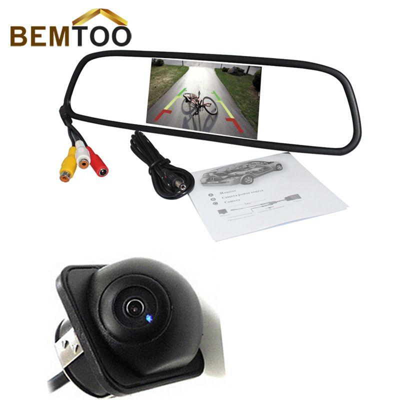 CCD Reverse rear view backup car camera Mini Universal 4 LED auto Rückfahrkamera
