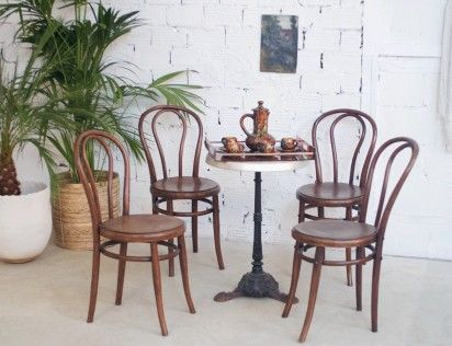 Chaises Vintage Thonet Luterma Chaise Bistro Bistrot Retro Bois Courbe Annees 30 1930 Chaise Bistrot Deco Bistrot Table Et Chaises
