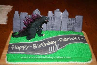 Cool Homemade Godzilla Birthday Cake | party ideas | Godzilla ...