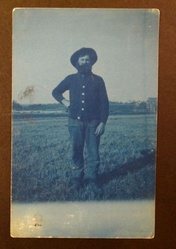 Lincoln Dealer Milwaukee >> MERRILL WISCONSIN AUGUST LEMKE Farmer in Field Cyanotype ...