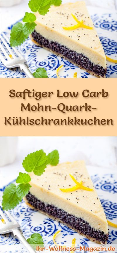 saftiger low carb mohn quark k hlschrankkuchen rezept ohne zucker kuchen pinterest low. Black Bedroom Furniture Sets. Home Design Ideas