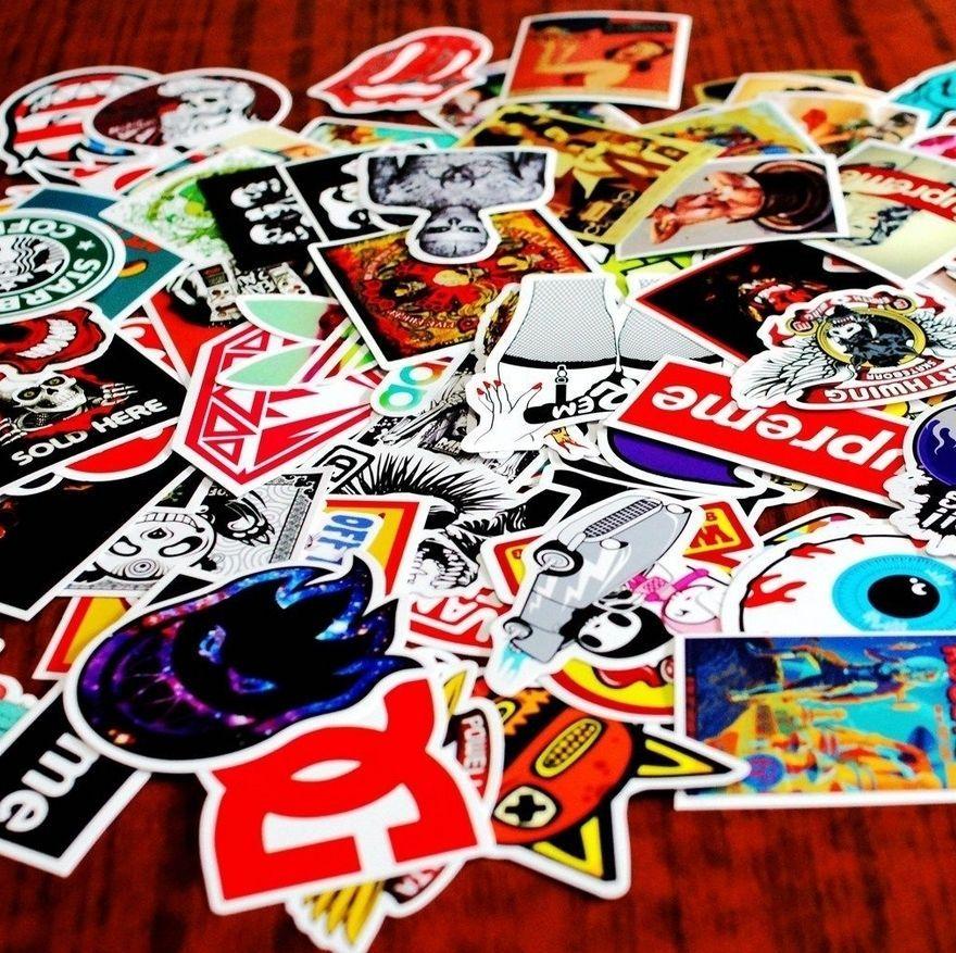 20 stickers skateboard vinyl graffiti sticker laptop luggage car decals mix in stickers decals