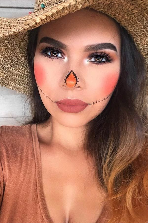 25 Scarecrow Makeup Ideas for Halloween | StayGlam