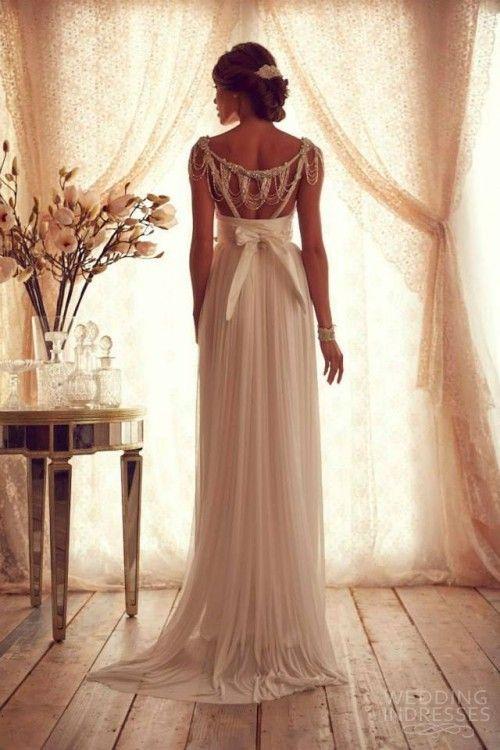 anna campbell 2013 cap sleeves sweetheart sheath wedding dress with stunning back #weddingdress