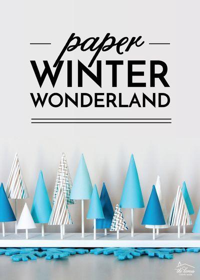 Зимняя сказка из бумаги своими руками