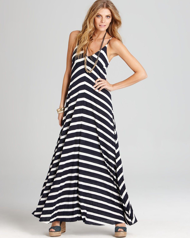 516a2fdbf061 Aqua Striped Maxi Dress from Bloomingdales. Easy