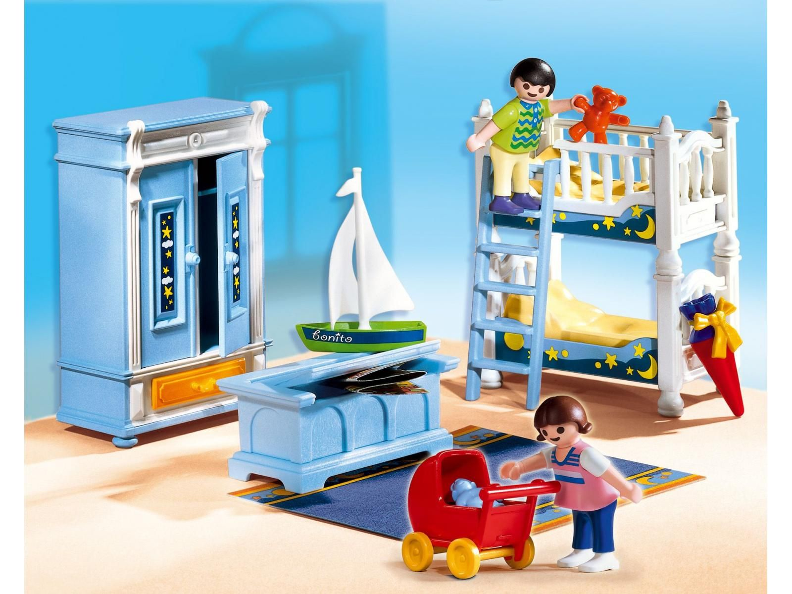 Playmobil 5328 enfants et chambre traditionnelle for Playmobil maison moderne cuisine