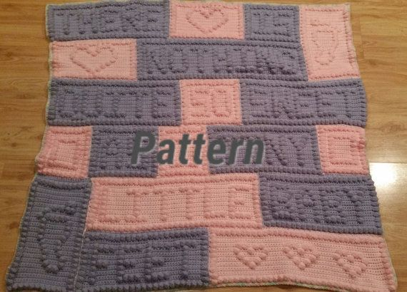 As-Is known errors Crochet Pattern Baby blanket, baby feet blanket ...