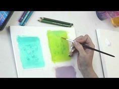 Wassertropfen In Acryl Mit Aquarellstiften Tutorial Malen Lernen