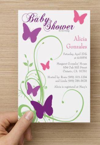 Erfly Baby Shower Invitation By Premierprinting On Etsy Babyshower