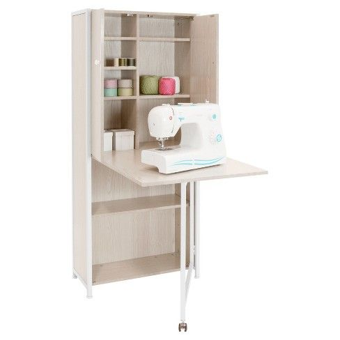 Craft Armoire White Sew Ready Craft Armoire Craft Tables