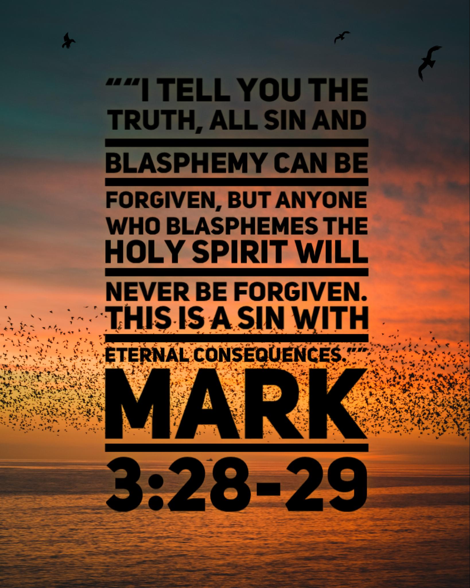 Never Blaspheme the Holy Spirit in 2020 | Holy spirit, Bible truth, All sins