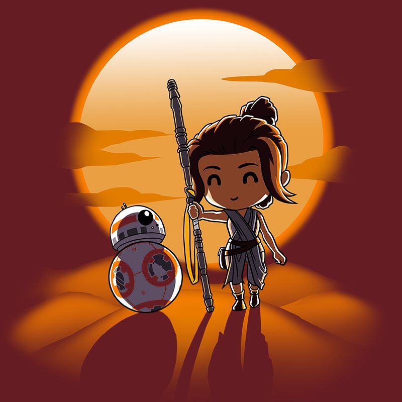 Jakku Sunset This Official Star Wars T Shirt Featuring Bb