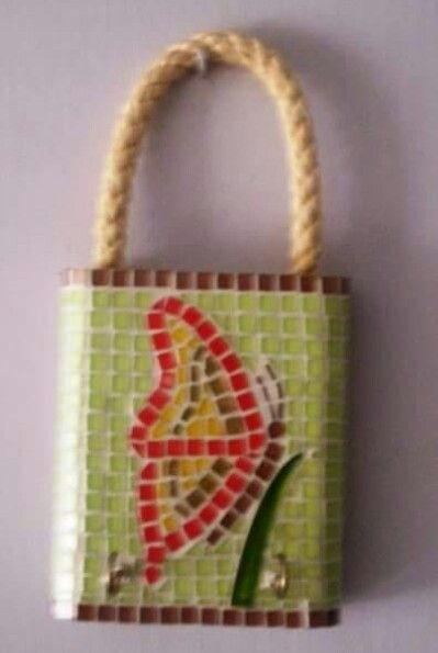 Candado mosaico para llaves