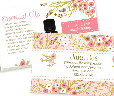 doterra business card template
